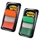 Pack Post-it marcadores verde y naranja