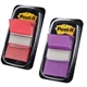 Pack Post-it marcadores morado y rojo