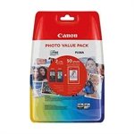 Canon Pack PG540XL + CL541XL + Papel foto 50 hojas (10x15) | CANB-PG540XLCL541XL