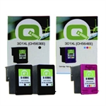 Q-Nomic Pack 301XL (2 Negro + 1 Color) | QNB-2CH563-1CH564